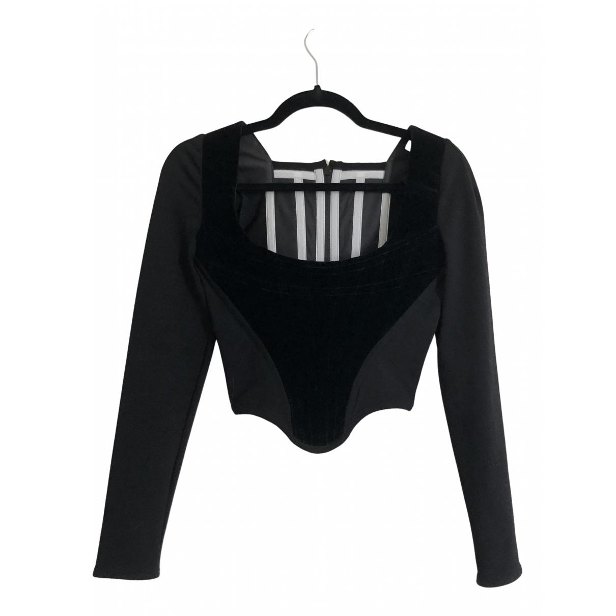 Vivienne Westwood N Black Velvet  top for Women 40 IT
