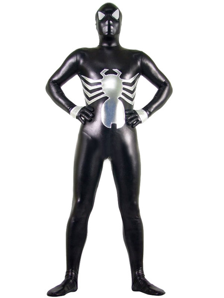 Milanoo Disfraz Halloween Spiderman Zentai Metalico Brillante Unisex Halloween Disfraz Cosplay Halloween