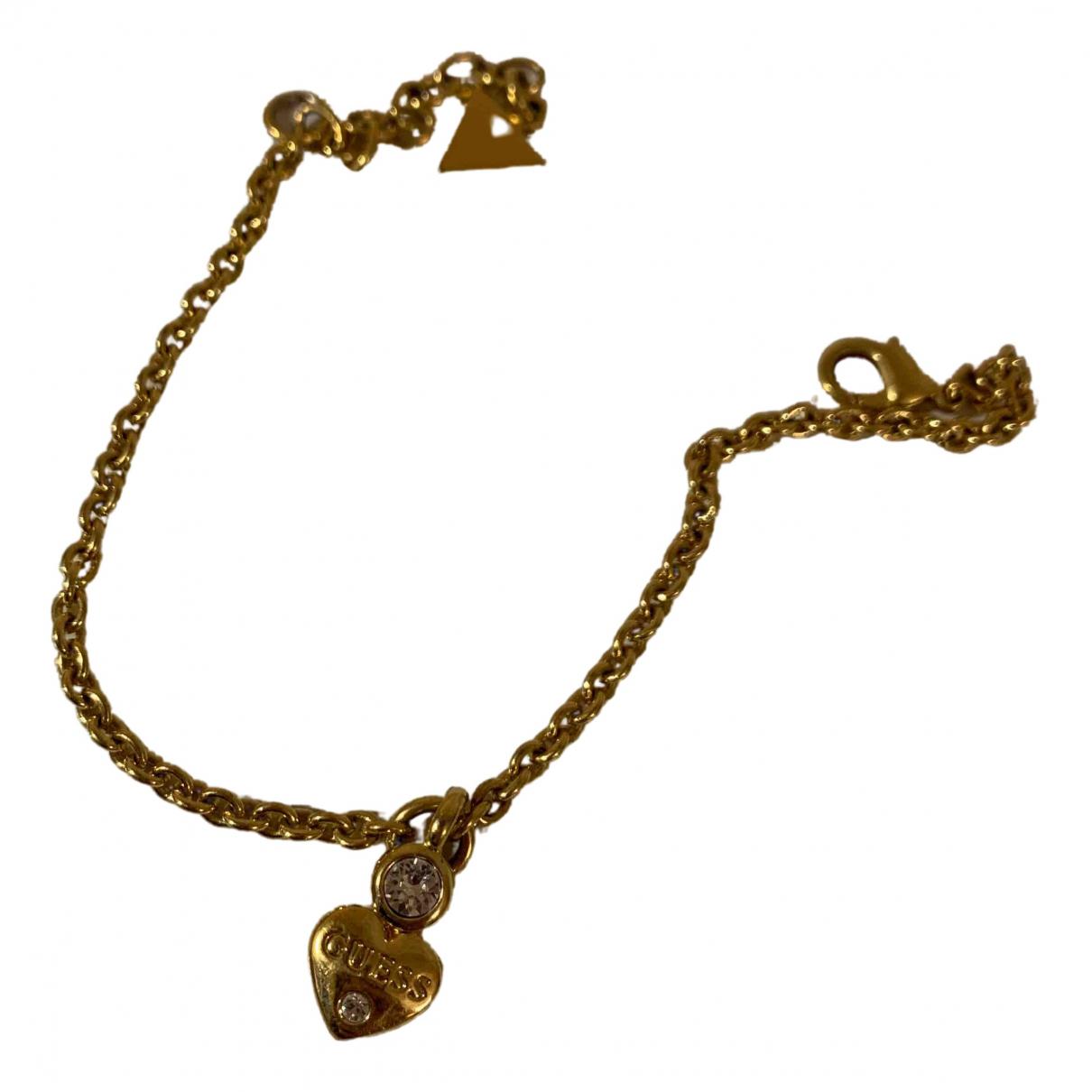 Guess - Bracelet   pour femme en metal - dore