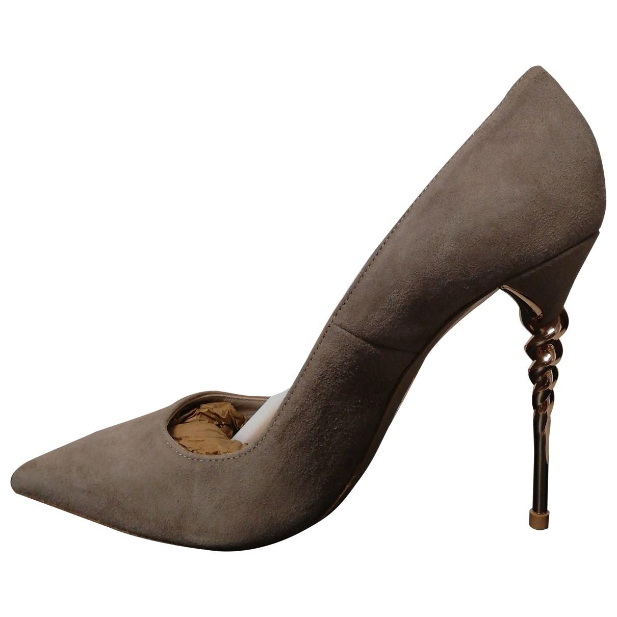Le Silla - Escarpins   pour femme en suede - beige