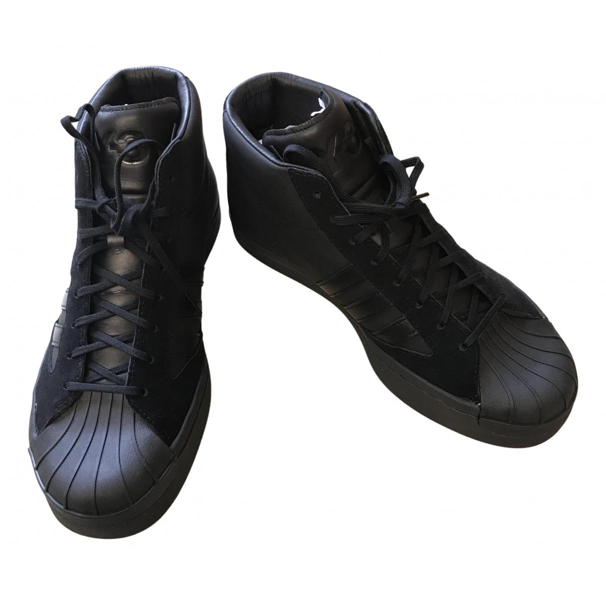 Y-3 By Yohji Yamamoto \N Sneakers in  Schwarz Leder