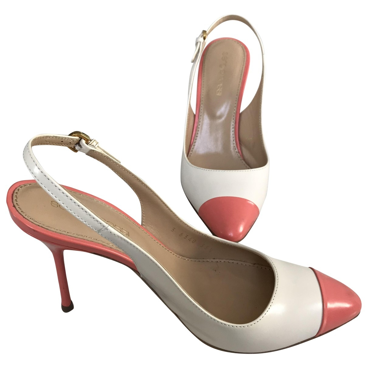 Sergio Rossi \N Pink Leather Heels for Women 35.5 EU