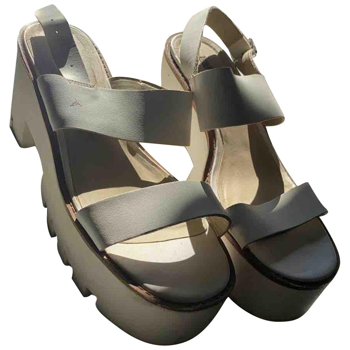 Windsor Smith - Sandales   pour femme en cuir - blanc
