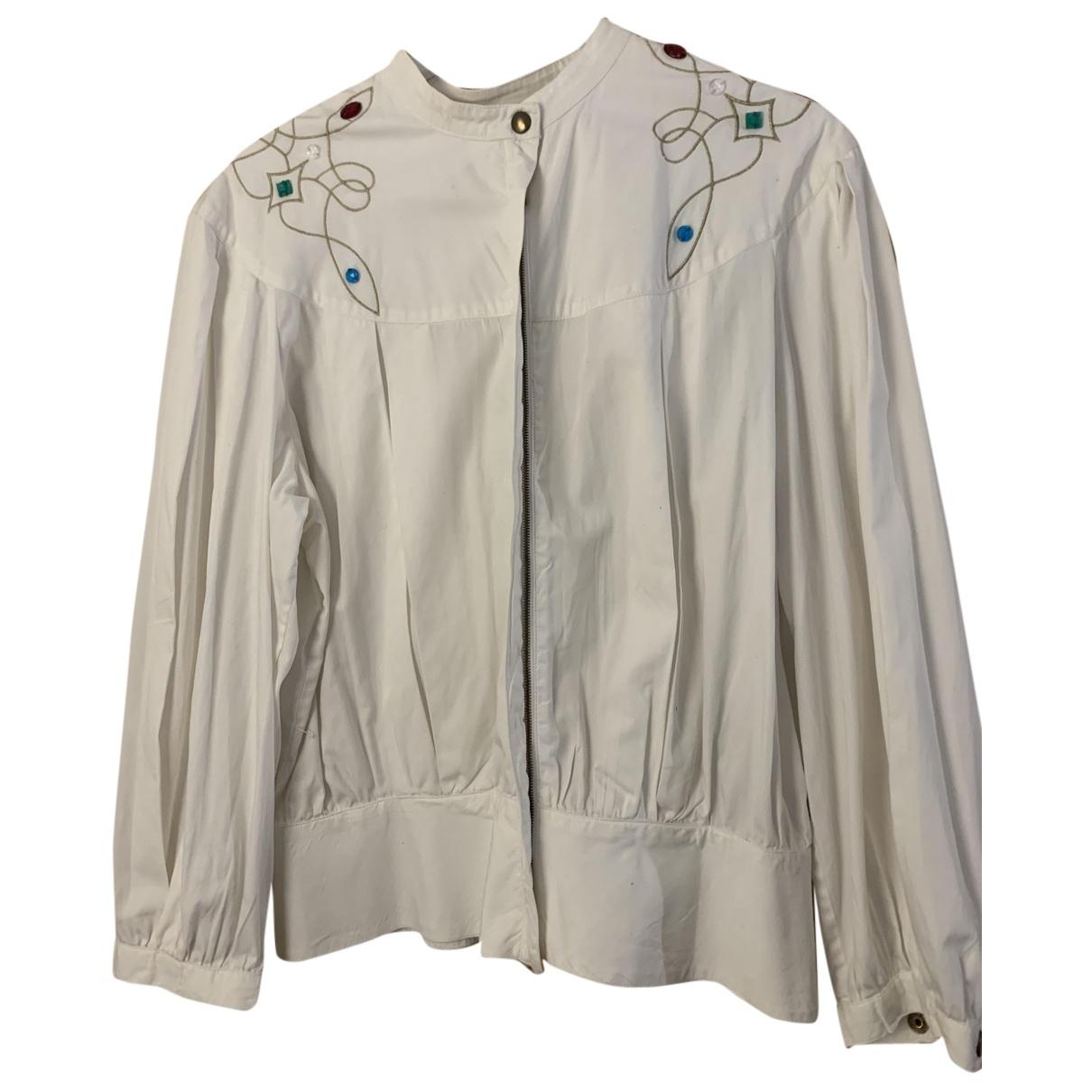 Alberta Ferretti N White Cotton jacket for Women 42 IT