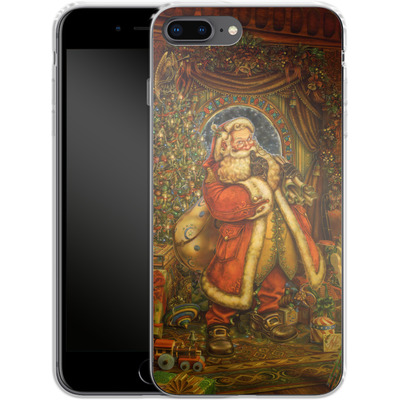 Apple iPhone 8 Plus Silikon Handyhuelle - Myles Pinkeney - Christmas Presence von TATE and CO