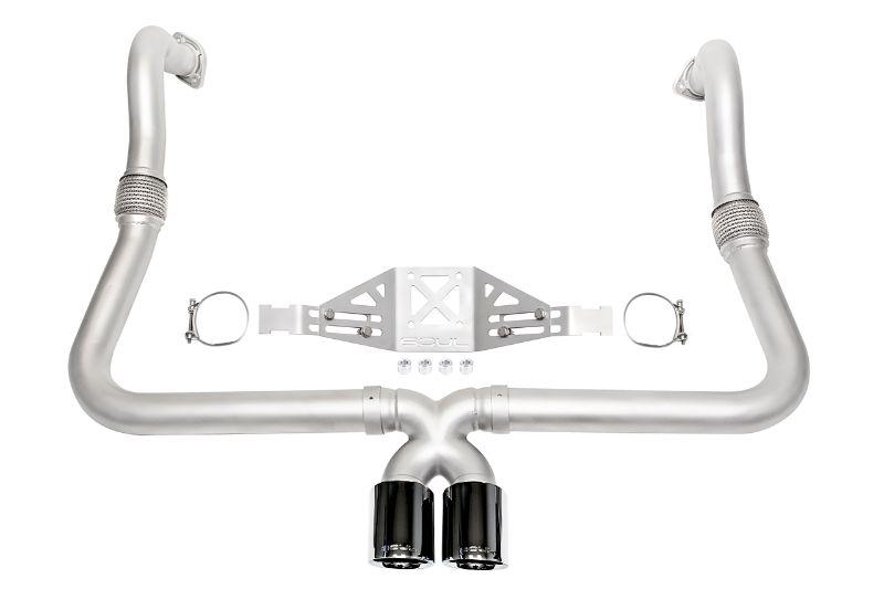 Soul Performance Track Package Non-Valved PDK Transmission Black Chrome Tips Porsche 718 Cayman   Boxster 17-19