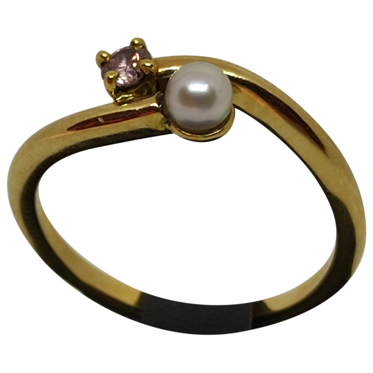 Non Signé / Unsigned Toi & Moi Yellow gold ring for Women 54 MM