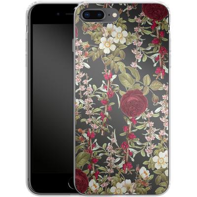 Apple iPhone 8 Plus Silikon Handyhuelle - Floral Explorer von Zala Farah