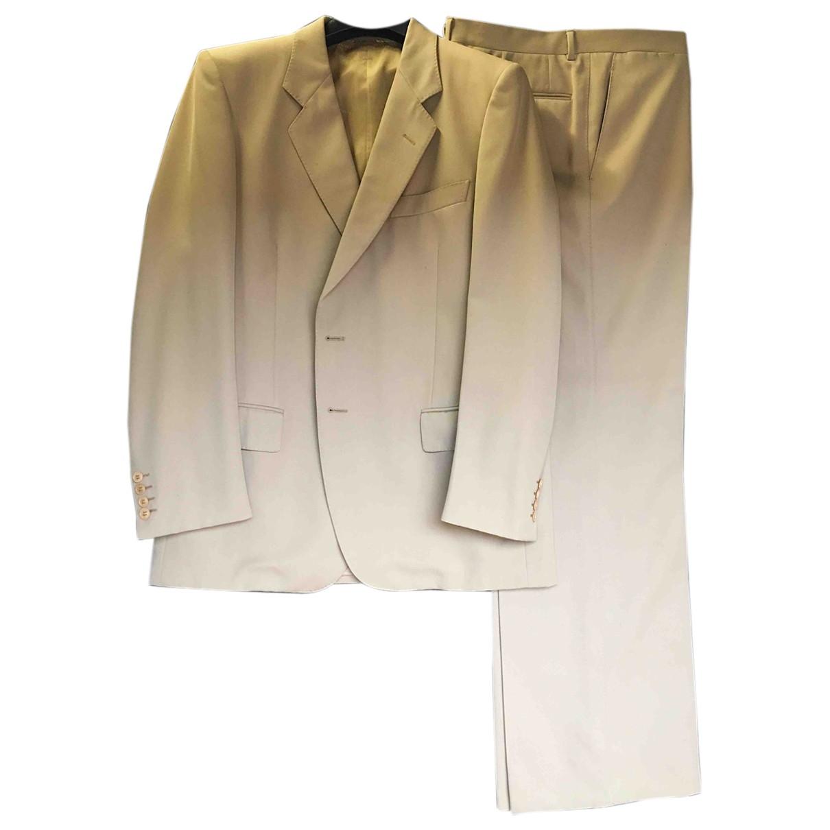 Lanvin \N Beige Wool Suits for Men 54 IT
