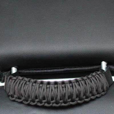 Bartact TAOGHHPBF Jeep Headrest Paracoard Grab Handles Black/Anvil Pair