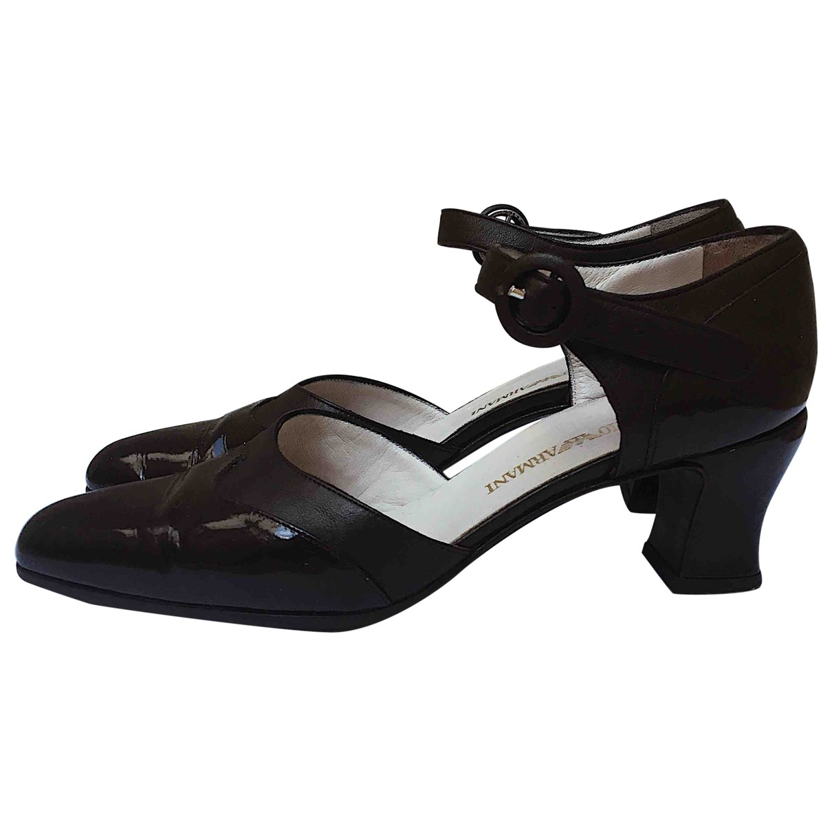 Emporio Armani - Escarpins   pour femme en cuir - marron
