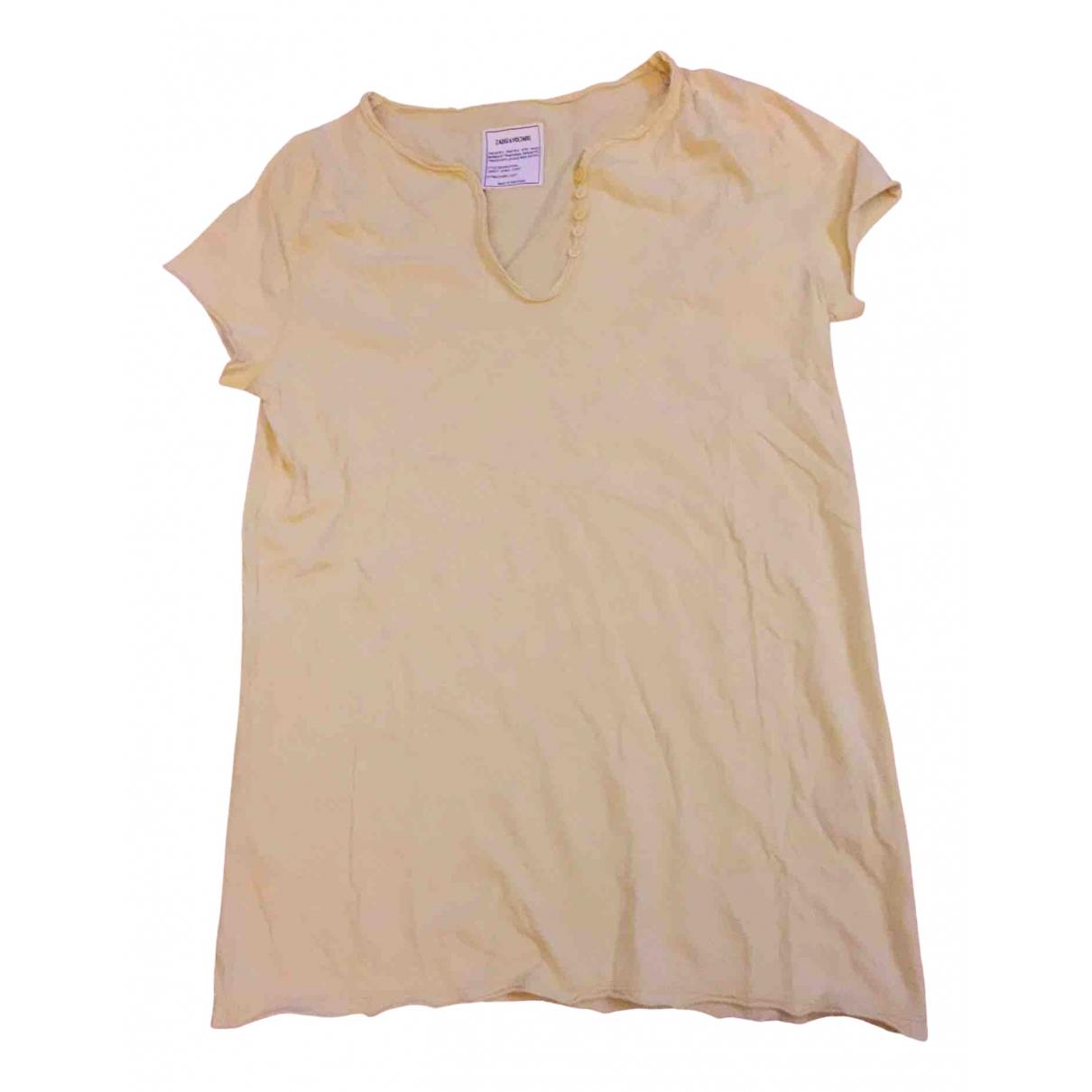 Zadig & Voltaire \N Yellow Cotton  top for Women S International