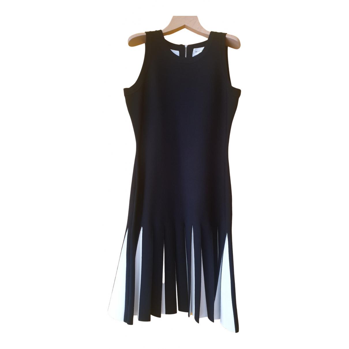 Milly \N Kleid in  Schwarz Viskose