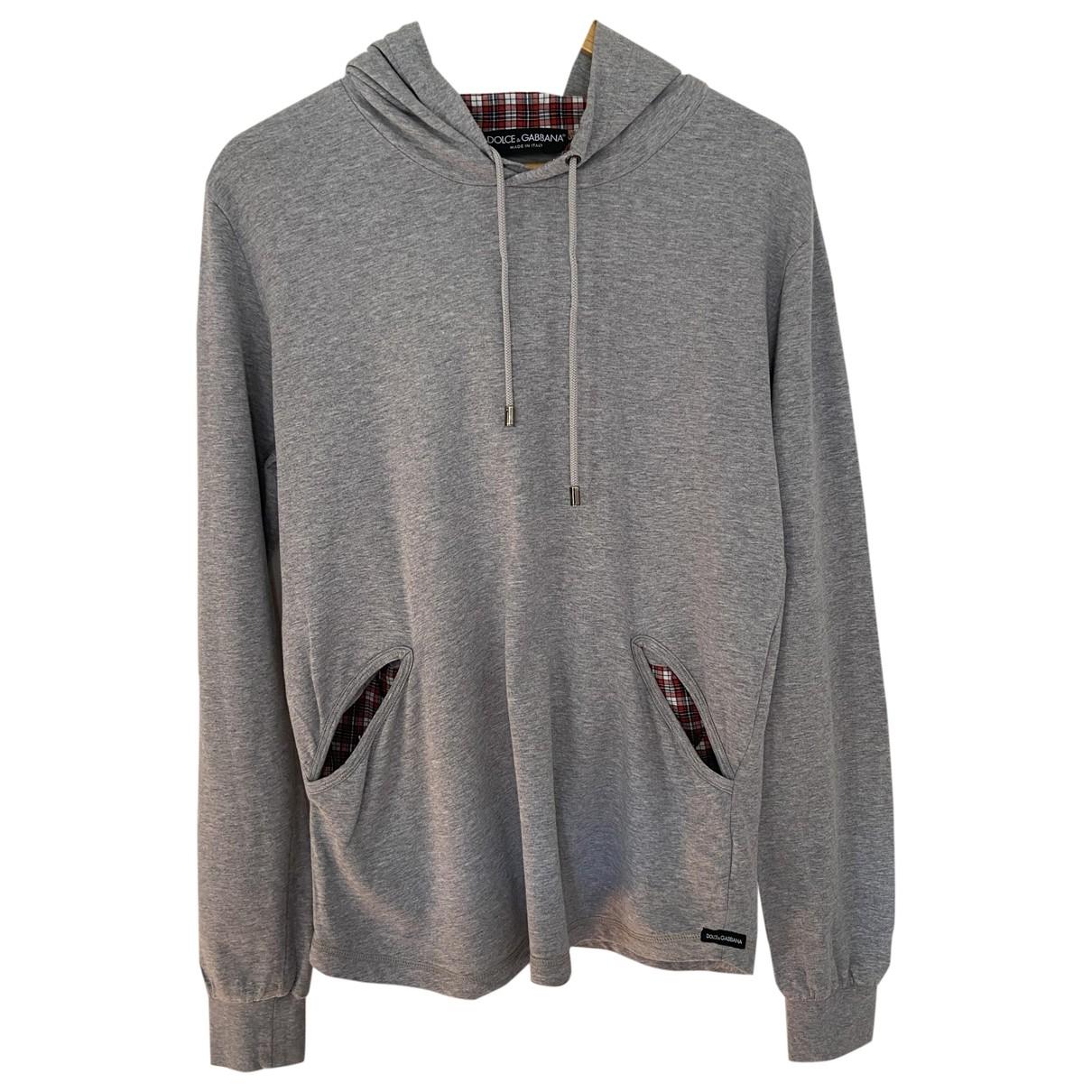 Dolce & Gabbana \N Pullover.Westen.Sweatshirts  in  Grau Baumwolle
