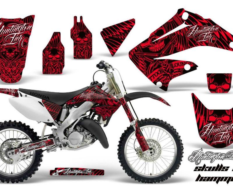 AMR Racing Dirt Bike Graphics Kit Decal Wrap For Honda CR125R | CR250R 2002-2008áHISH RED