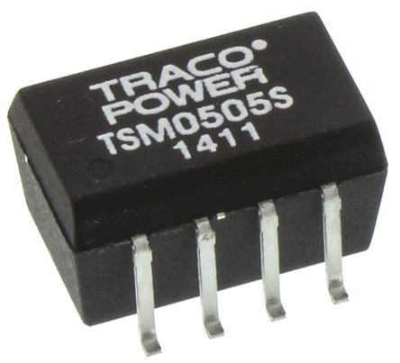 TRACOPOWER TSM 1W Isolated DC-DC Converter Surface Mount, Voltage in 4.5 → 5.5 V dc, Voltage out 5V dc