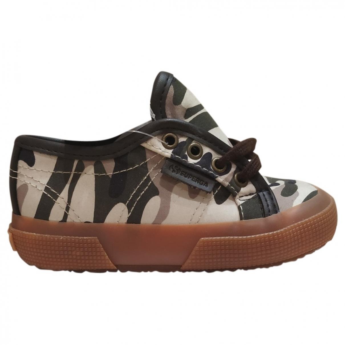 Superga \N Sneakers in  Khaki Leinen