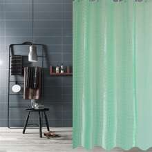 Plain Shower Curtain With 12hooks