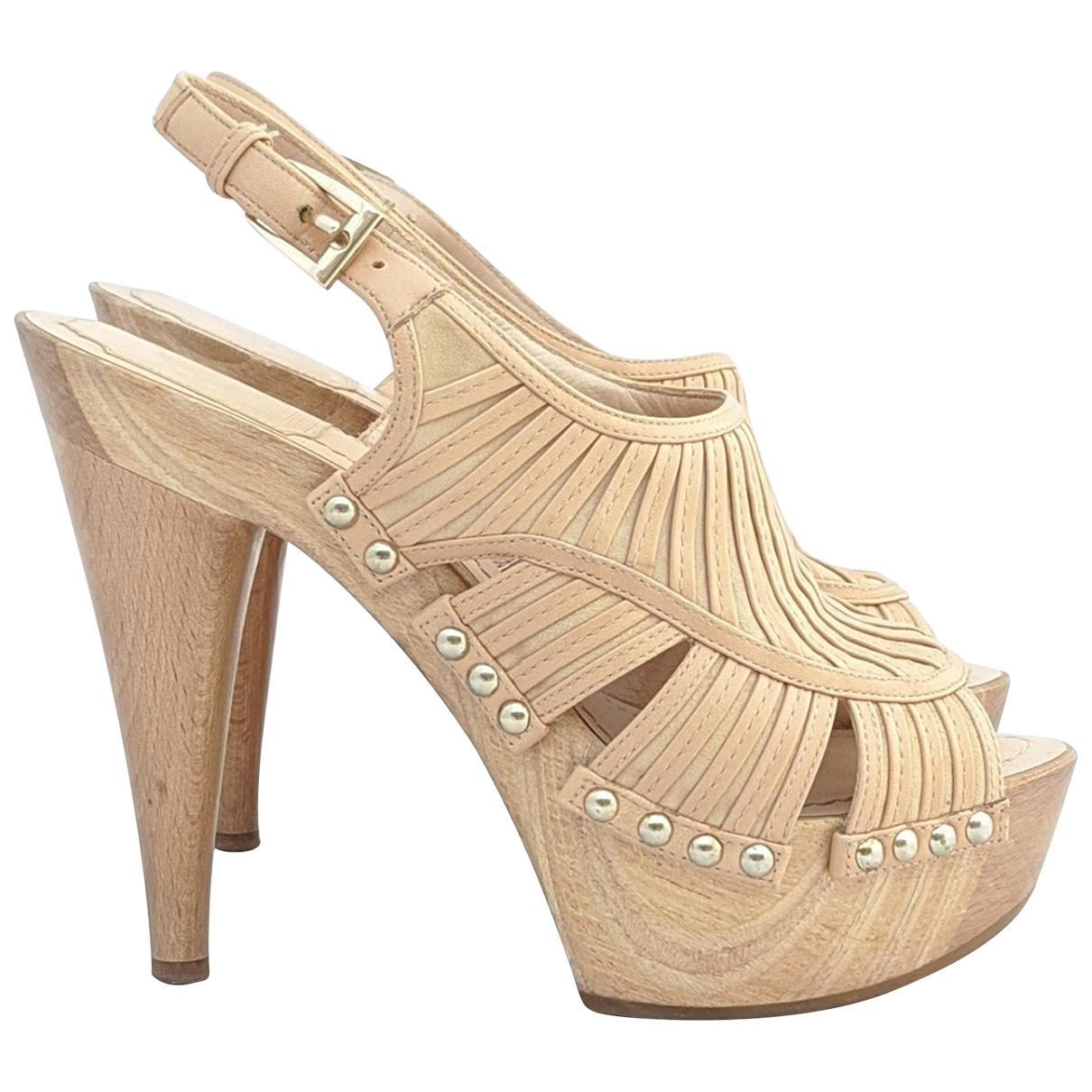 Dior \N Sandalen in  Beige Veloursleder