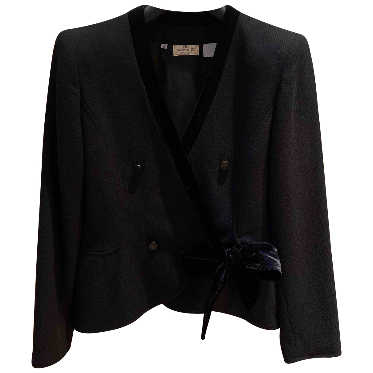 Valentino Garavani N Black Wool jacket for Women 8 UK
