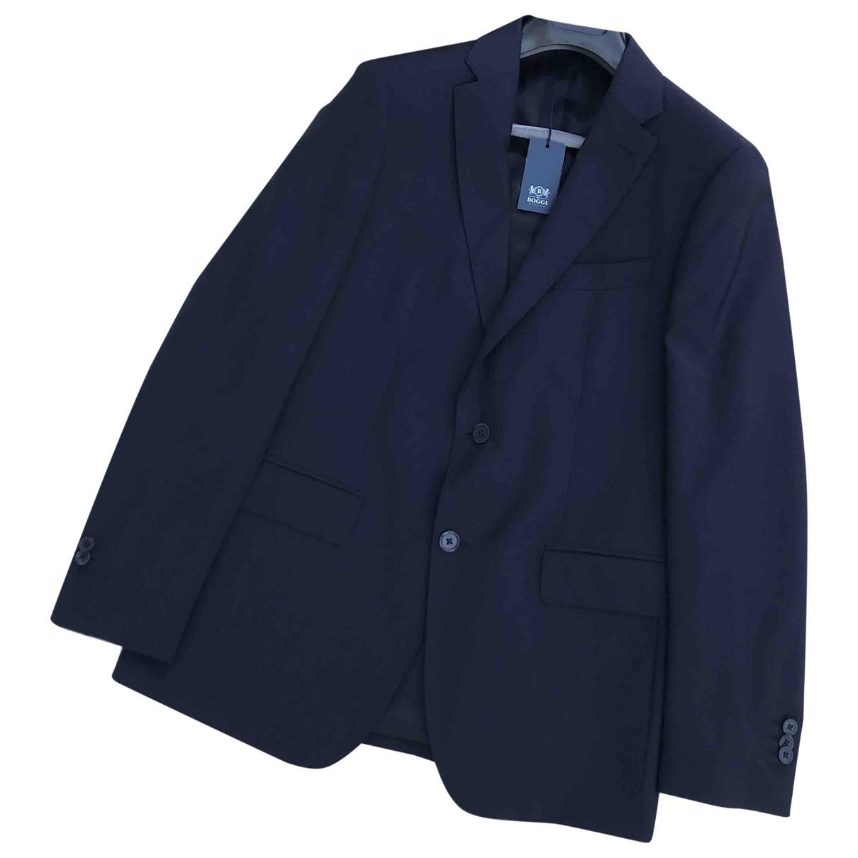 Boggi \N Blue Wool Suits for Men 52 IT