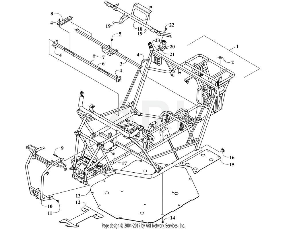 Arctic Cat OEM 9506-041 Seat Panel Support Ptd Black