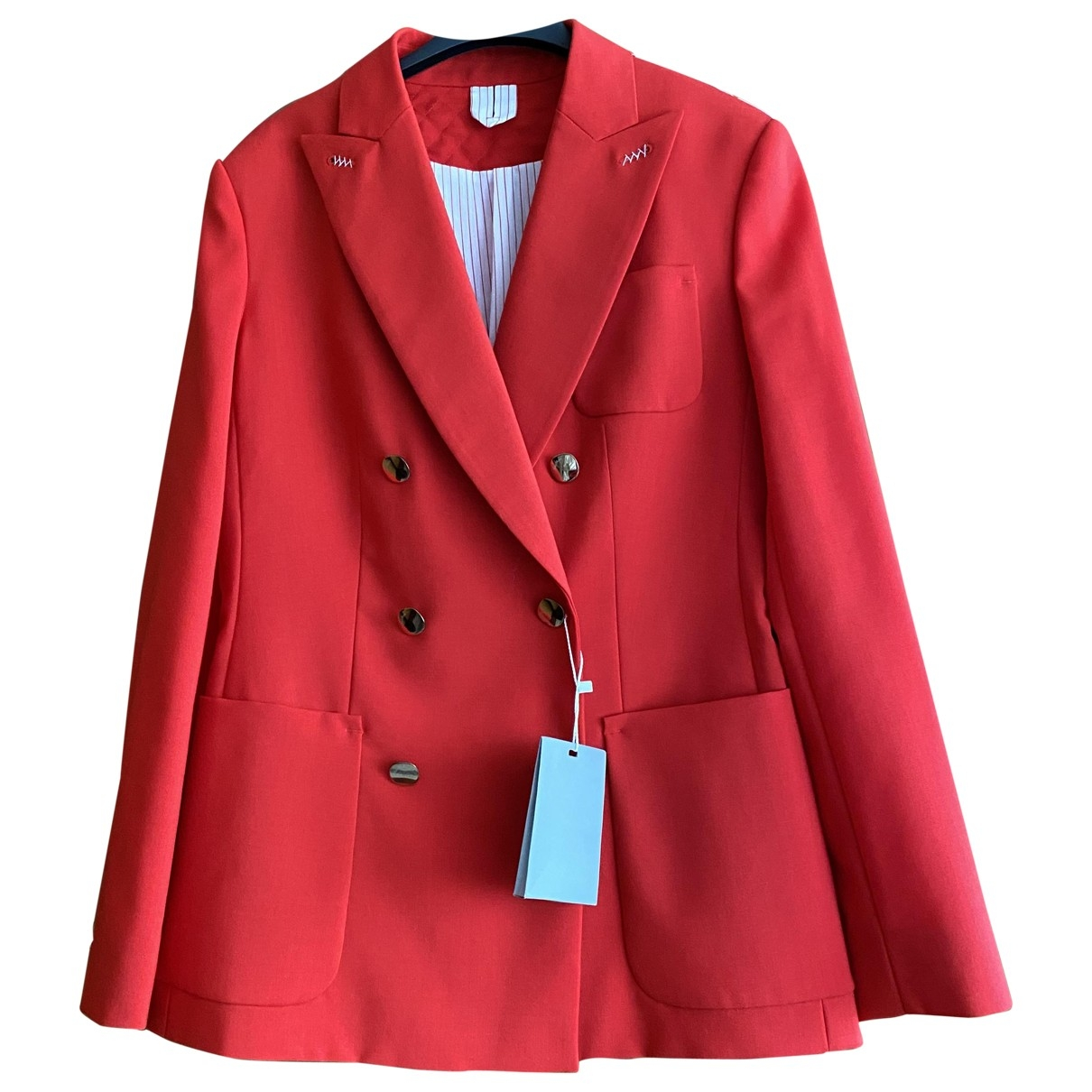Non Signé / Unsigned \N Red Wool jacket for Women 42 IT