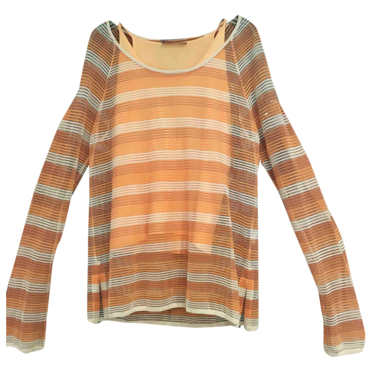 Non Signé / Unsigned \N Orange Knitwear for Women 44 FR