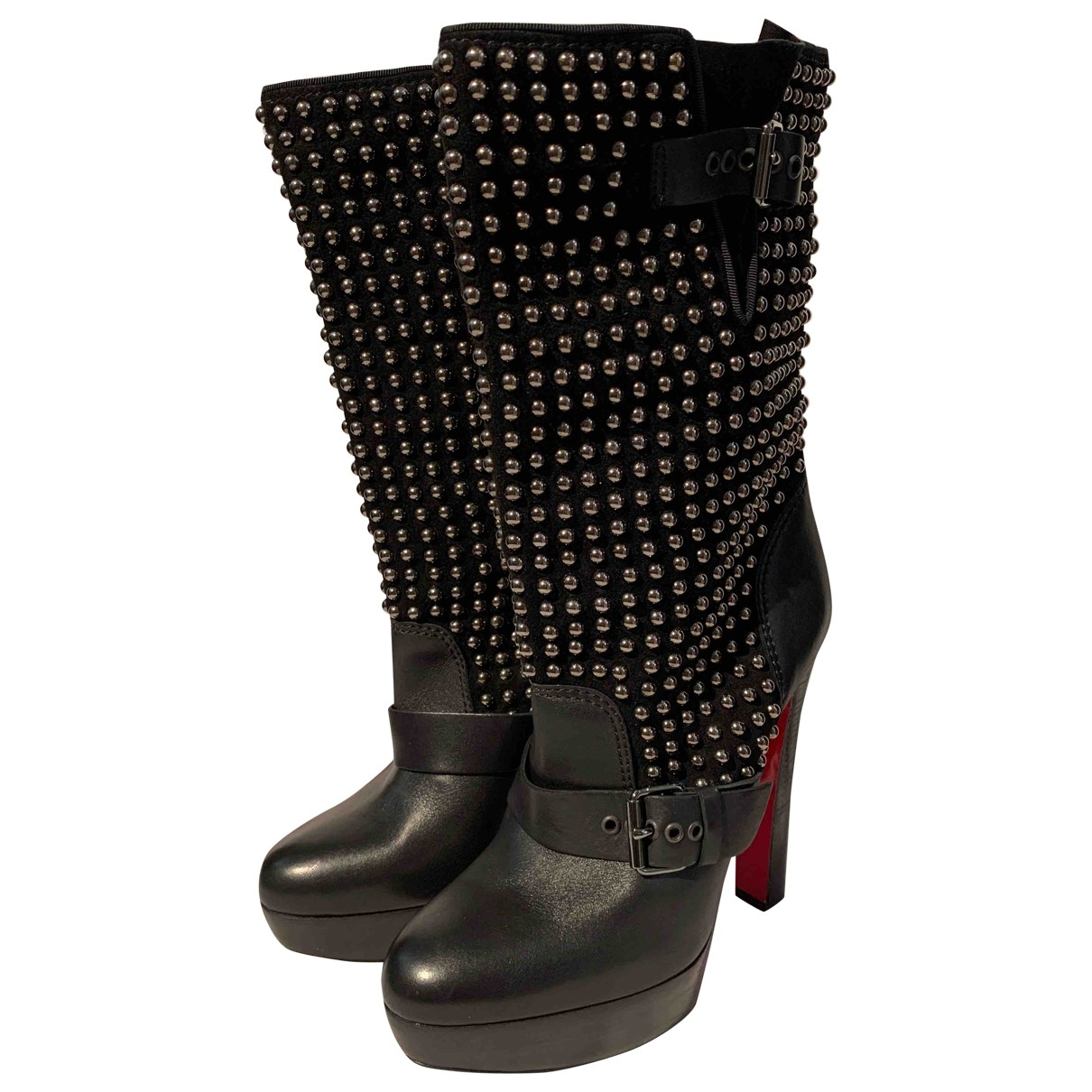Christian Louboutin \N Black Leather Boots for Women 40.5 EU