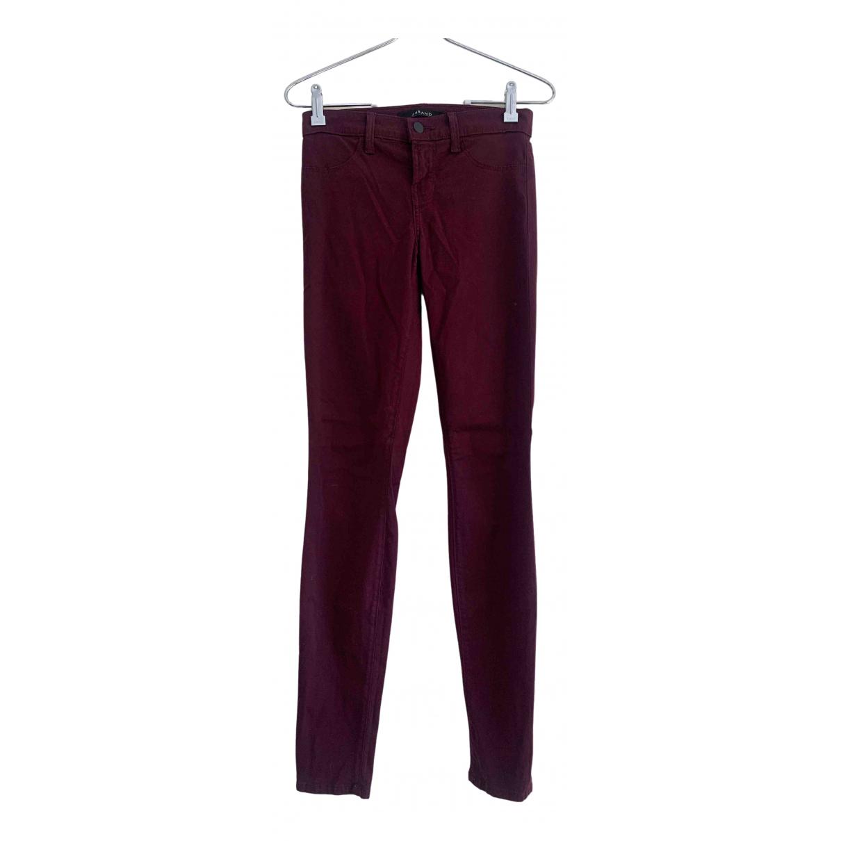 J Brand \N Burgundy Cotton - elasthane Jeans for Women 24 US