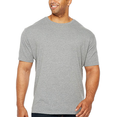The Foundry Big & Tall Supply Co.-Big and Tall Mens Crew Neck Short Sleeve T-Shirt, 3x-large , Gray