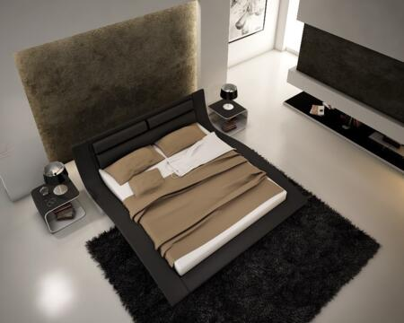 17836-Q Wave Queen Size Bed in