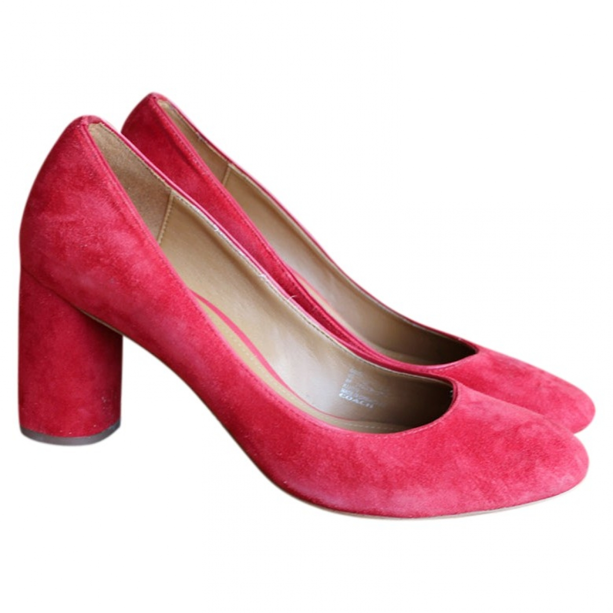Coach \N Red Suede Heels for Women 8 US