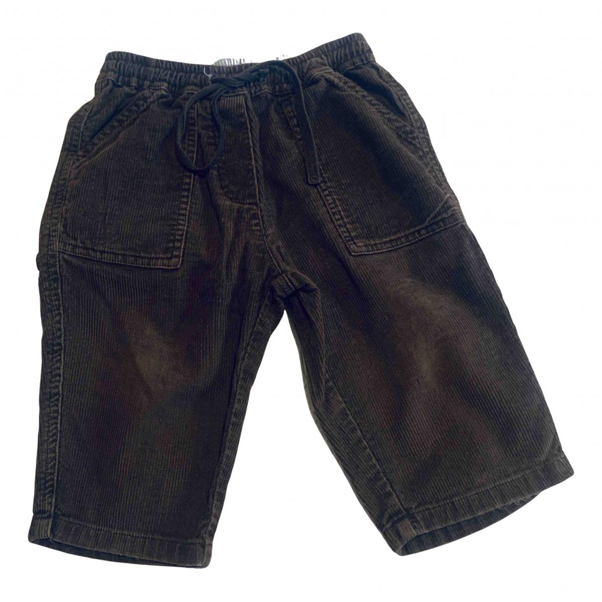 Bonpoint - Pantalon   pour enfant en velours - marron