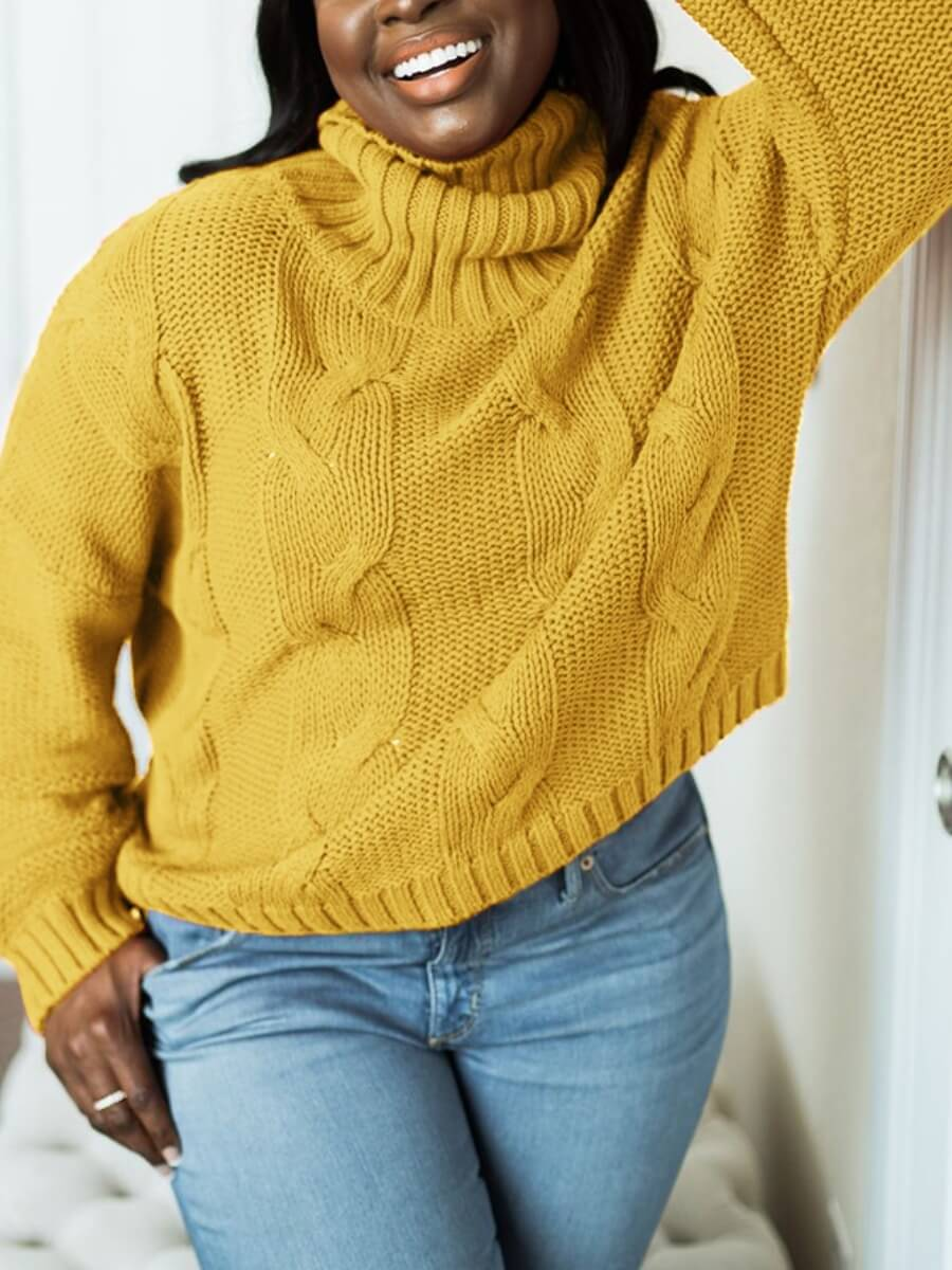 LW Lovely Casual Dropped Shoulder Yellow Sweater