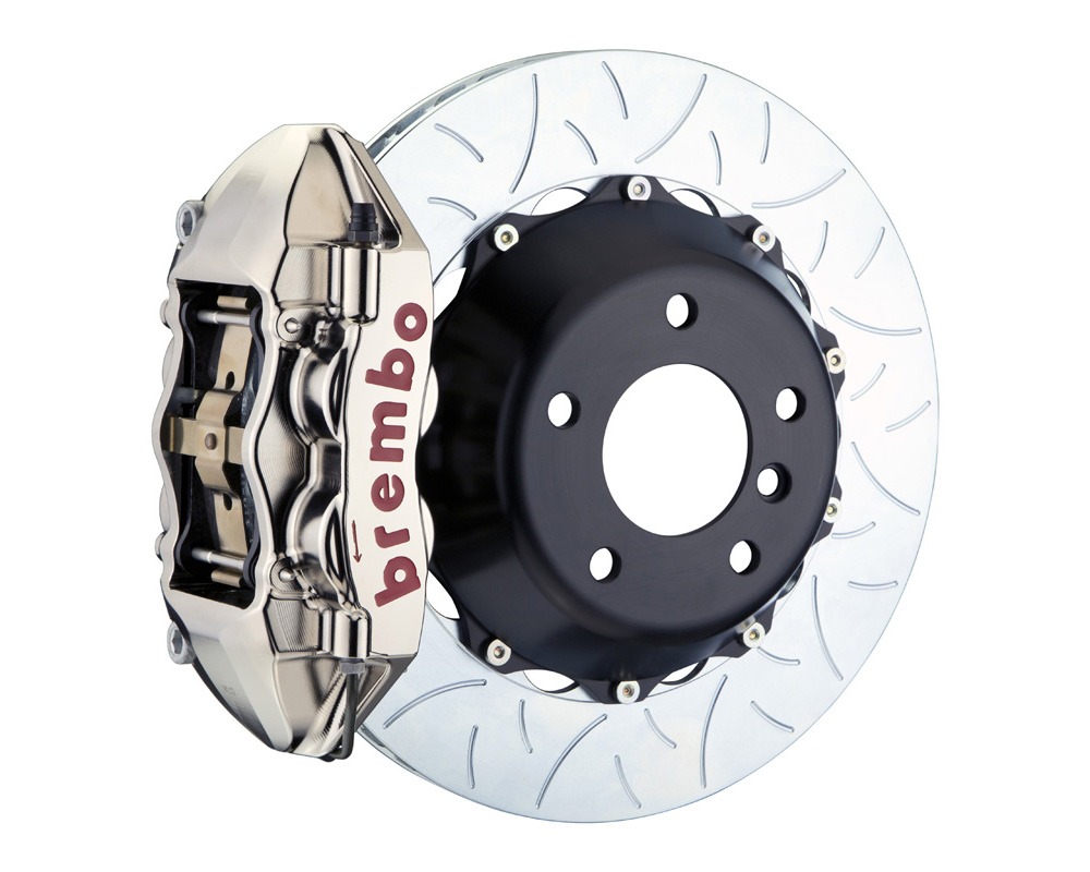 Brembo GT-R 380x28 2-Piece 4 Piston Nickel Plated Slotted Type-3 Rear Big Brake Kit