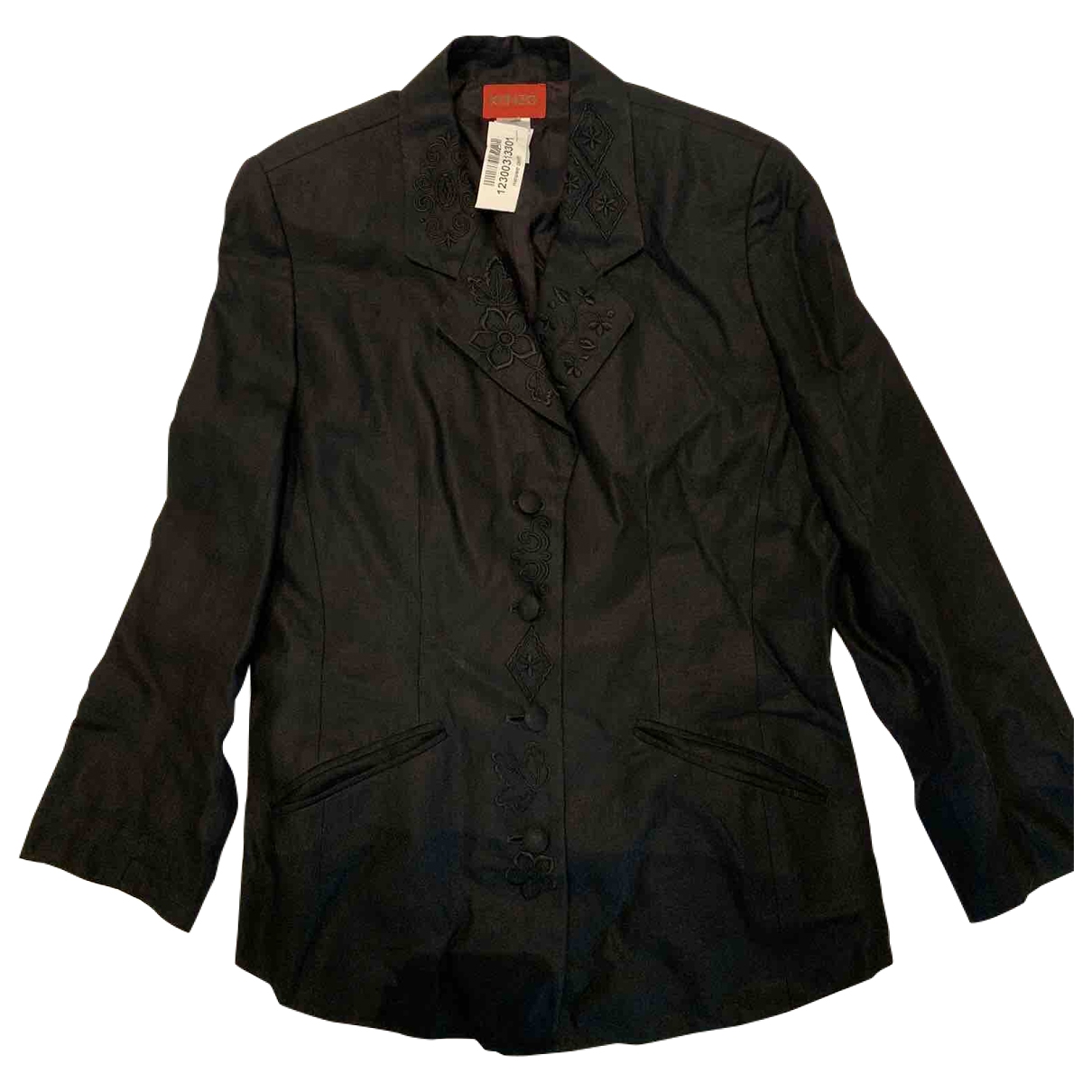 Kenzo \N Black Linen jacket for Women 42 FR