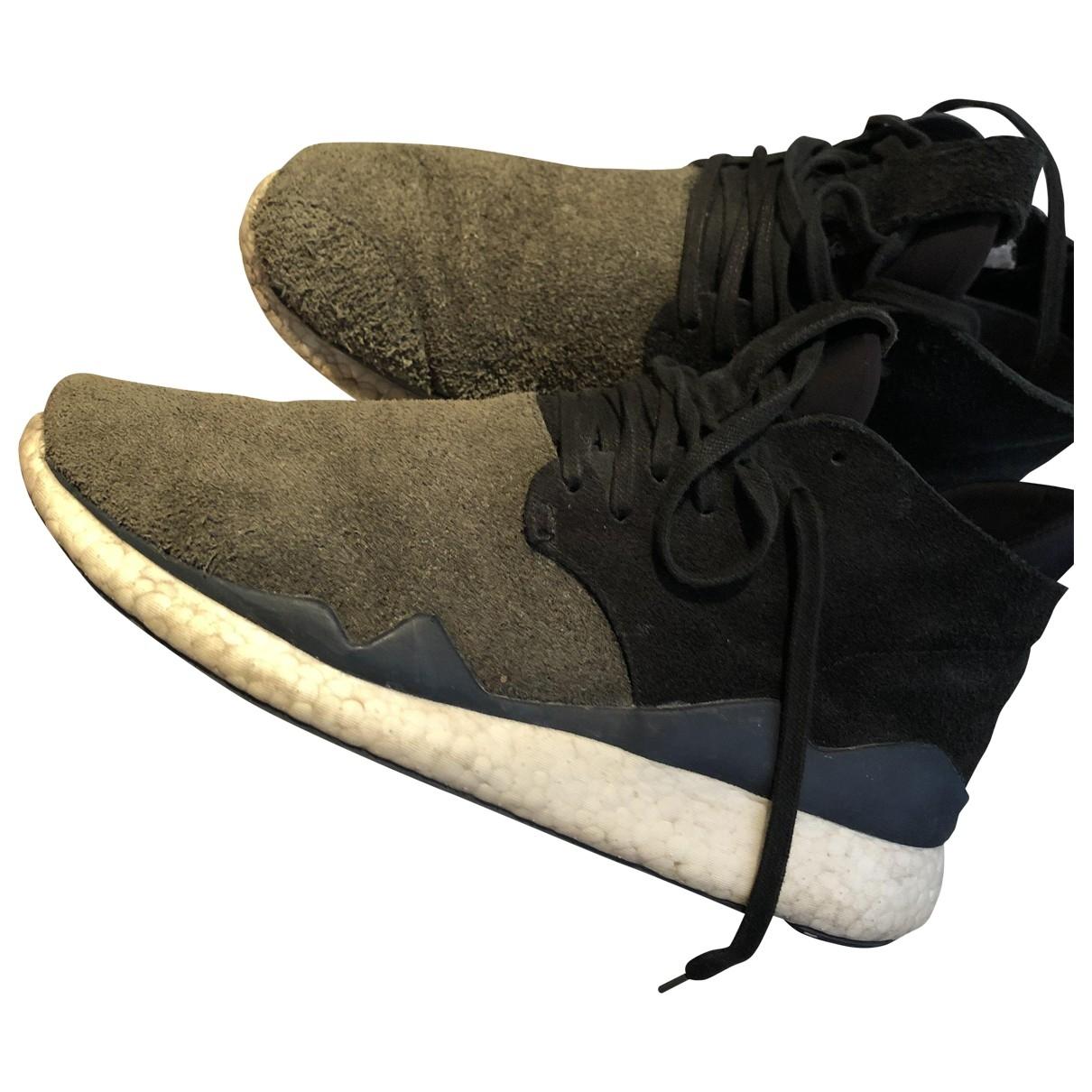 Y-3 \N Sneakers in  Gruen Leder