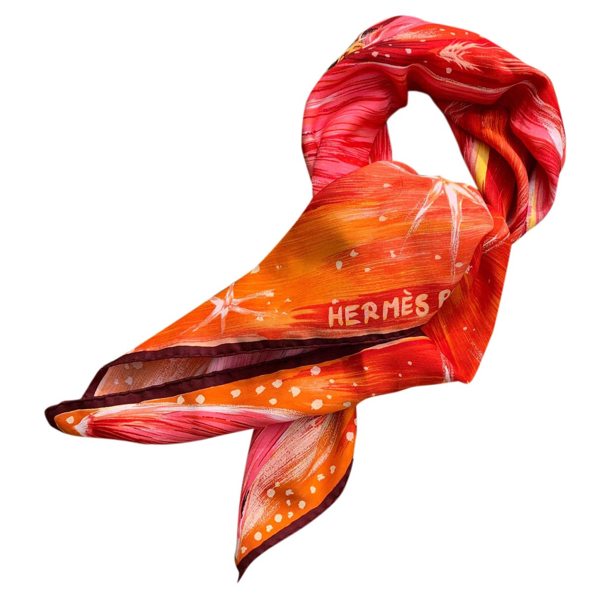 Hermes \N Schal in  Rot Seide