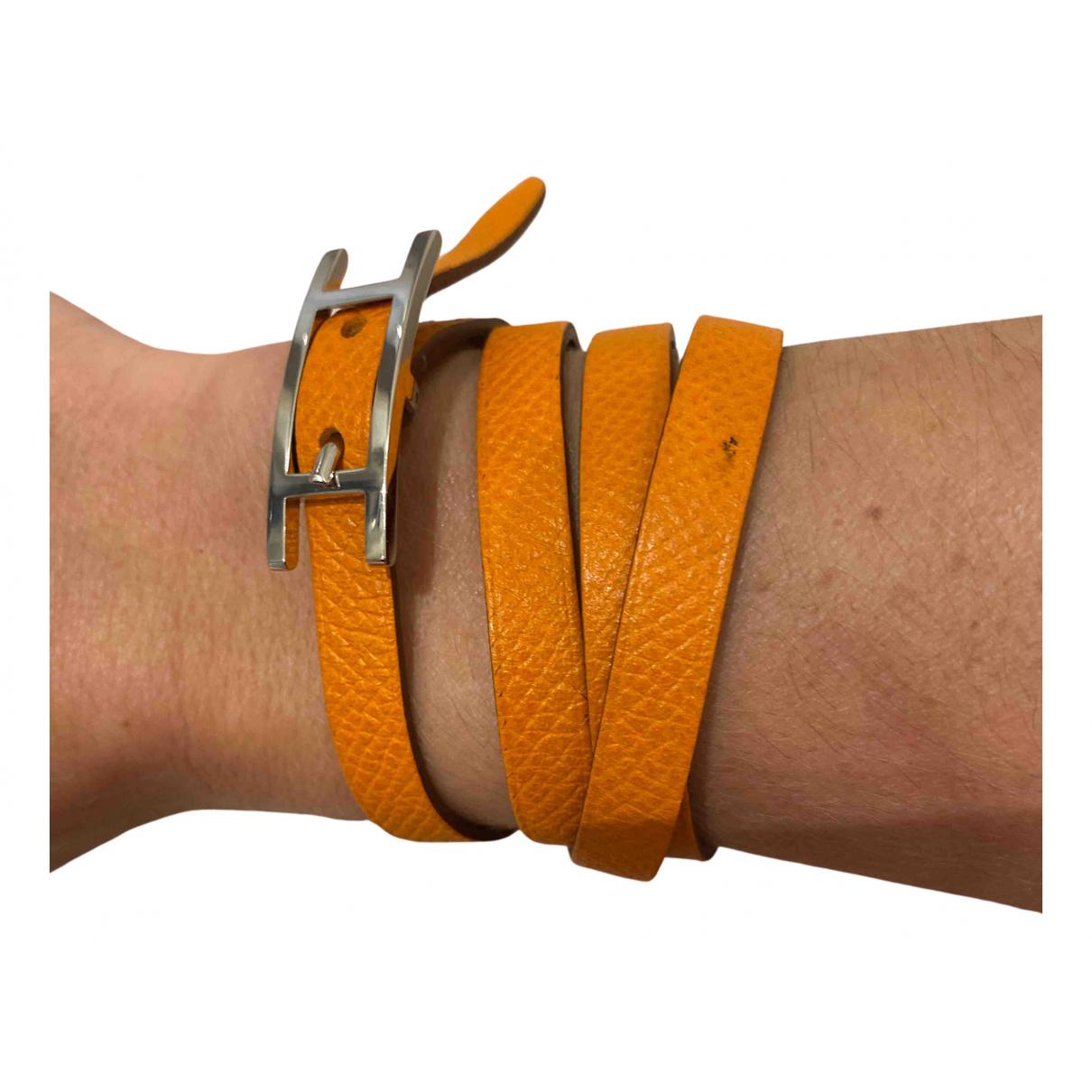 Hermes Behapi Armband in  Orange Leder