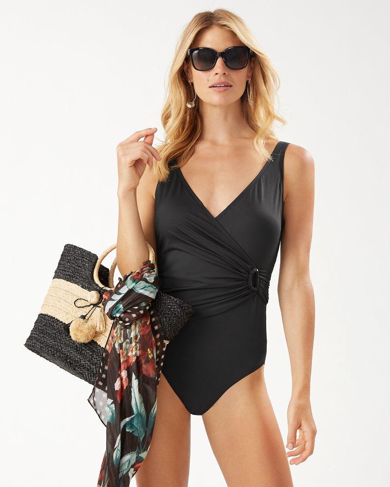 Pearl Clara Wrap One-Piece Swimsuit