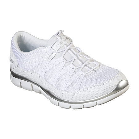 Skechers Gratis Womens Sneakers, 9 Medium, White