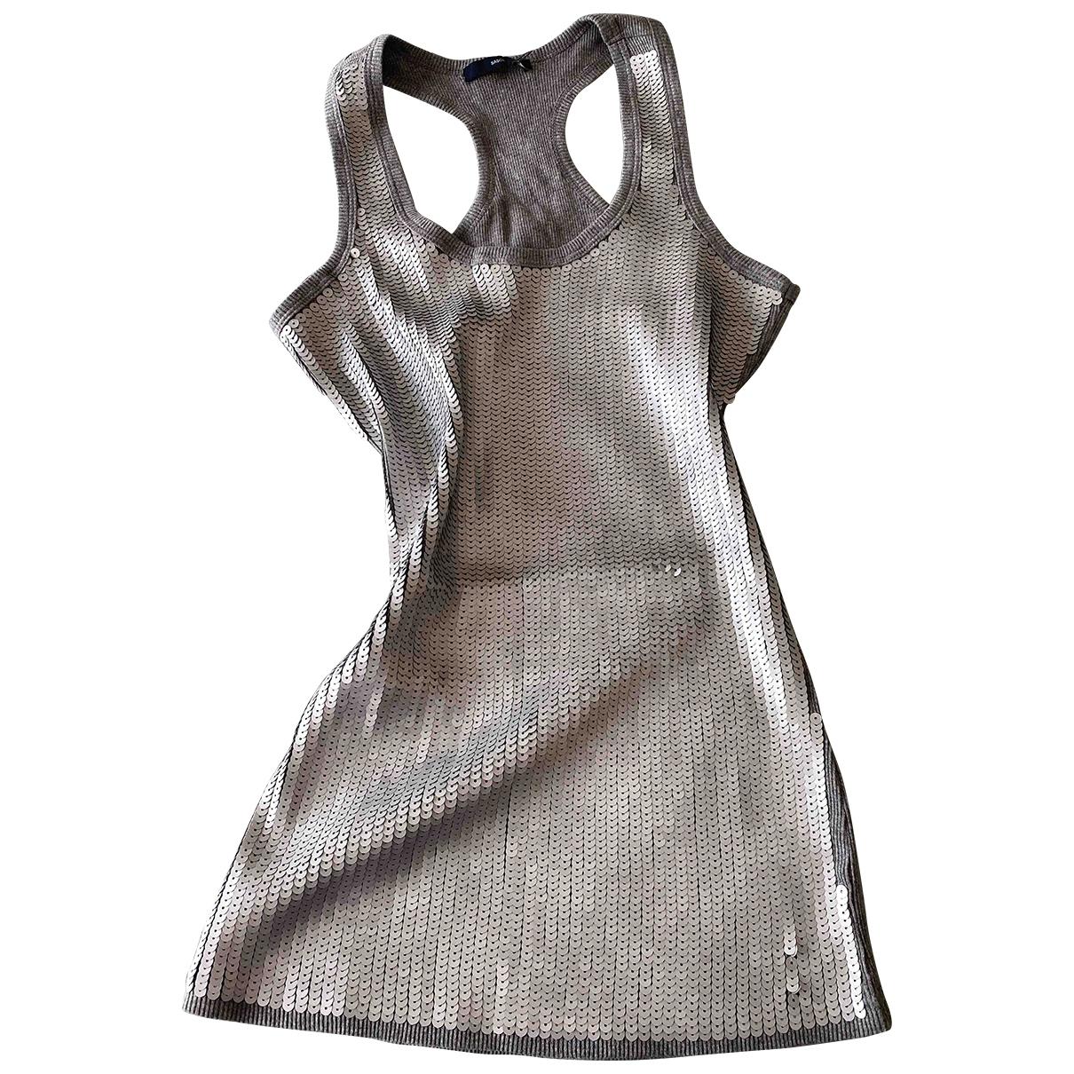 - Top Epaulettes pour femme en coton - gris