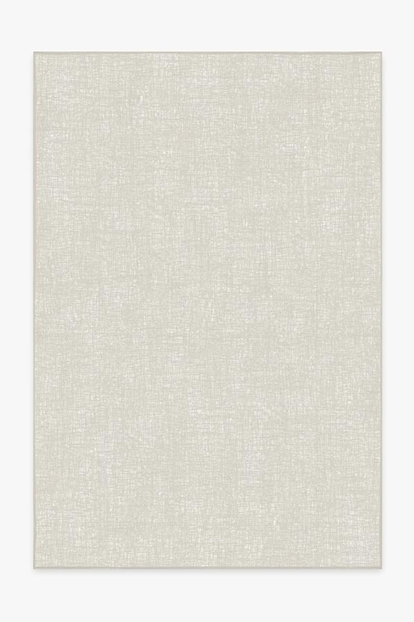 Washable Rug Cover   Crosshatch Light Grey Rug   Stain-Resistant   Ruggable   6x9