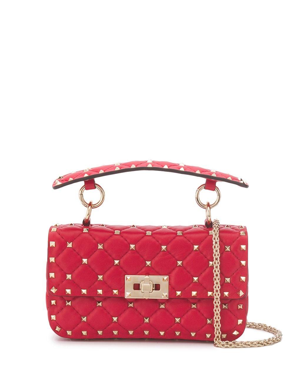 Rockstud Spike Small Leather Shoulder Bag