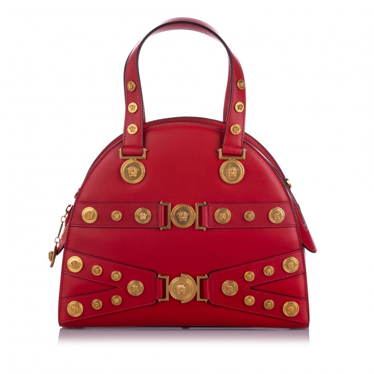 Versace N Red Leather handbag for Women N