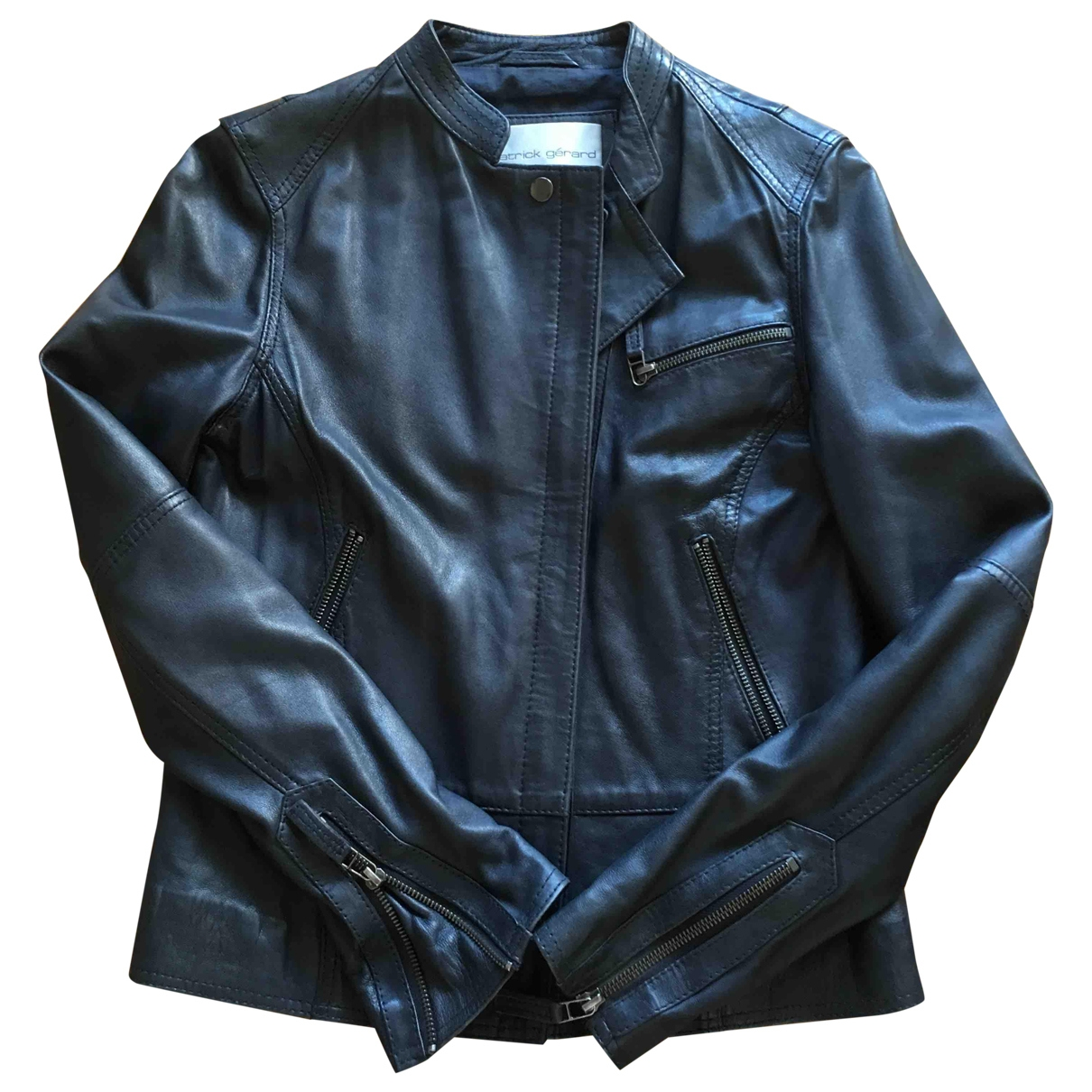 Gerard Darel \N Navy Leather Leather jacket for Women 36 FR