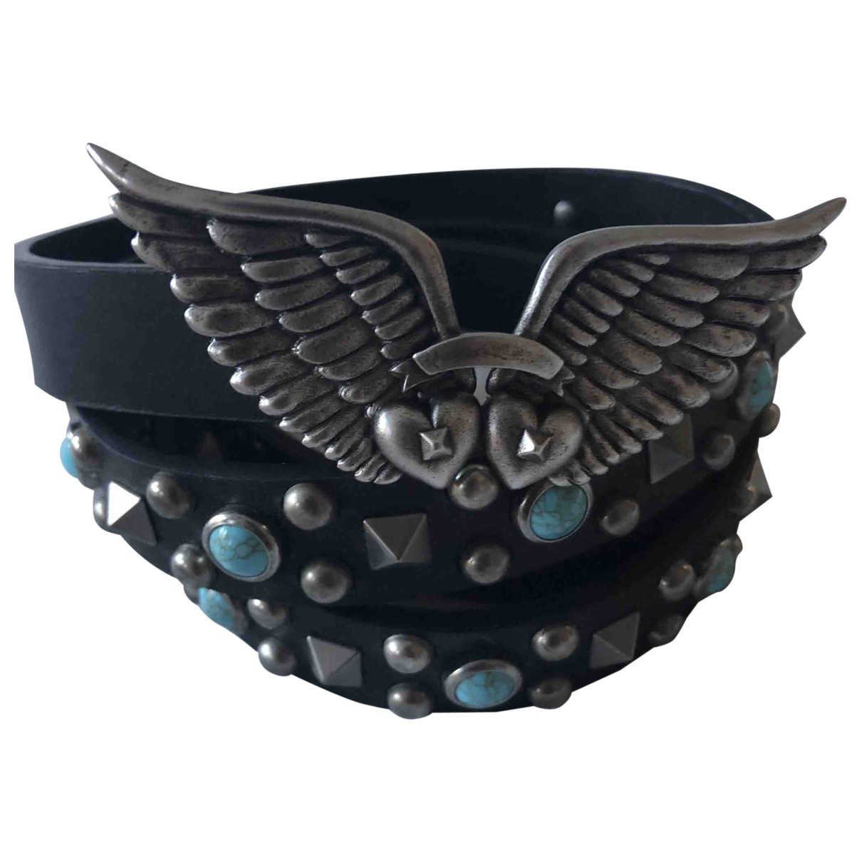 Valentino Garavani \N Black Leather belt for Women 90 cm