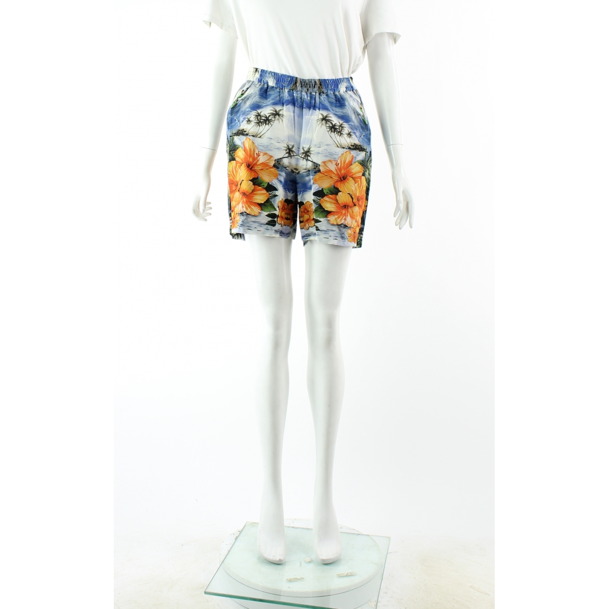 Stella Mccartney \N Shorts in  Orange Seide