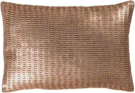 ANK002-1319 13 x 19 Pillow Cover  in Tan and Metallic - Champagne and